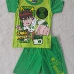 CN : Set เสื้อ+กางเกงขาสั้น Ben10 Going Hero สีเขียว
