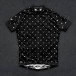 เสื้อจักรยานแขนสั้นทีม TWINSIX 16 (37) สีดำลายจุดขาว