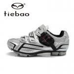รองเท้าจักรยานเสือภูเขา TIEBAO รุ่น TB15-B1268 สีเงินดำ ตัวรัดออโต้