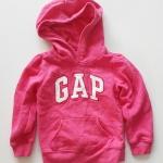 Gap : กันหนาว Gap แบบสวมมีฮูด สีชมพูเข้ม (girl) Size : 5y