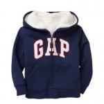 Gap : Jacket มีฮูด ซิปหน้า ด้านในบุขนหนานุ่ม สีกรม size : 12-18m / 18-24m / 2T