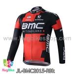 เสื้อจักรยานแขนยาวทีม BMC 15 สีแดงดำ สั่งจอง (Pre-order)