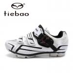 รองเท้าจักรยานเสือภูเขา TIEBAO รุ่น TB15-B1268 สีขาวดำ ตัวรัดออโต้