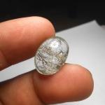 แก้วขนเหล็ก กระจาย น้ำใส เส้นแกร่ง สวย ขนาด 1.8x 1.3 cm ทำแหวน จี้