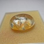 แก้วเข้าแก้วแฝดสีเงินทอง โชคลาภ ร่ำรวย ใสสวยงาม ขนาด 2.7*2 cm ทำหัวแหวน