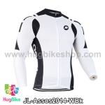 เสื้อจักรยานแขนยาวทีม Assos 14 ขาวดำ สั่งจอง (Pre-order)