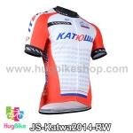 เสื้อจักรยานแขนสั้นทีม Katwa 2014 สีแดงขวา