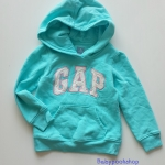 Gap : กันหนาว Gap แบบสวมมีฮูด สีฟ้า (girl) Size : 5y