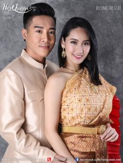 เช่าชุดไทย &#x2665 ชุดแต่งงานแบบไทย ชุดสไตล์โบราณ สไบปักทั้งผืน เปลี่ยนสีสไบจีบด้านในได้ค่ะ
