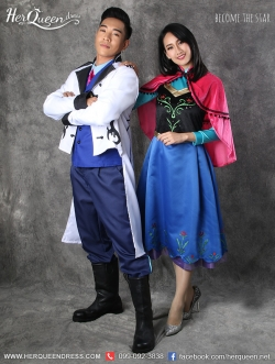 &#x2665 ชุดแฟนซี ชุดคู่จากเรื่อง Frozen เจ้าชายฮานส์ และ เจ้าหญิงอันนา