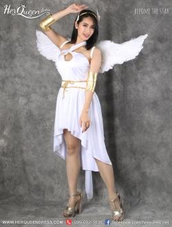 เช่าชุดแฟนซี &#x2665 ชุดแฟนซี ชุดนางฟ้า ชุดกรีก เทพเฮอร์มิส สีขาว พร้อมปีก