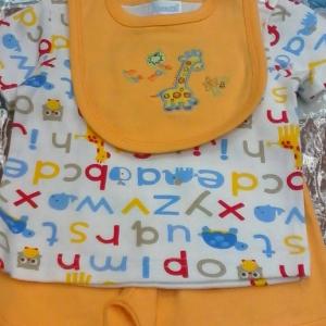 ชุดเด็กชายสามชิ้นมีผ้ากันเปลื่อน size 3/6 6/9 เดือน ส่งยกแพ็คราคาเดียว 690 บาท ตดชุดละ 115 บาท