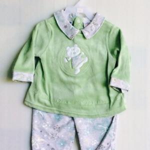 ชุดนอนผ้าลายน้ำงานส่งออกแบรน viewwinbaby ขายส่งยกแพ็ค 3ตัวราคา ชุดละ 130 บาท s 3-6 6-9m รวม