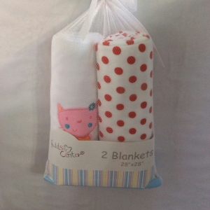 ผ้าห่อตัวแพ็คสองผืนขาด 28x28นิ้ว ผ้าเนื้อดีแบรนด์_kidscenter