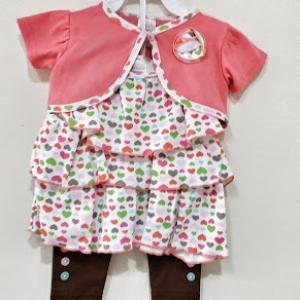 ชุดเลกกลิ้งเด็กแบบสามชิ้นสีชมพูแบบเสื้อคลุมไหลซับในสายเดียว-แบรนcarter,sขายส่งยกแพ็ค ขั้นต่ำสามชุดครบไซต่อแบบ