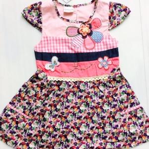 ชุดกระโรงเด็กหญิงแบรน next ผ้า cotton ไม้แบบดูหรูมาก size 2-6 ขายส่งยกแพ็ค มี 5 ชุด 950 บาท