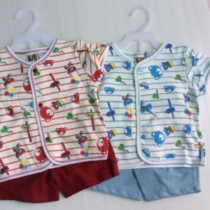 ชุดเด็กแบบติดสแนบ ใสสบาย 6ชุด size 3-6-9 เดือน