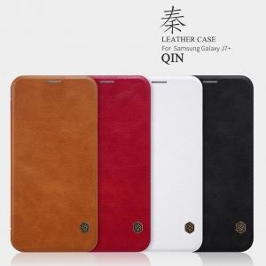 เคสมือถือ Samsung Galaxy J7+ (J7 Plus) รุ่น Qin Leather Case