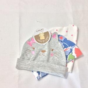 หมวกเด็กอ่อนแบรนด์ Carter's (แพค 3 ชิ้น) ประเภท- สินค้าเด็กแรกเกิด โรงานผู้ผลิต-viewwinbaby สินค้าโรงงานเราเ็นสินค้าคุณภาพ หมวกเด็กอ่อนแบรนด์ Carter's (แพค 3 ชิ้น) ผลิตจากผ้าคอตตอน 100 % สีสันสดใส เนื้อดี นิ่มและยืดหยุ่นได้ดี ตัดเย็บเรียบร้อย ลว