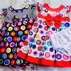 เสื้อผ้าเด็กขายส่งLaura-ashley-girl ชุดกระโปรงเด็กหญิงมีกางเกงใน สองสี size 12-18-24 เดือน ส่ง ขั้นต่ำ 6ชุด แพ็คหกชุดราคาส่ง 900 บาท