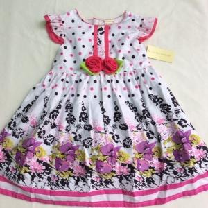 ชุดรอล่าแอสเร่สีขายจุดดอกไม้สวยเรียบๆ size 4-5-6ปี ขายส่งชุดละ 175 บาทแพ็ค มี 3 ชุด