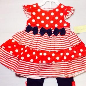 ชุดเล็กกลิ้งหญิงสองชิ้นราคาส่งยกแพ็ค ราคาส่ง 870 บาท size 12-18-24 m ตกชุด 145 บาท