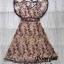 Dress แขนระบายคอV เนื้อผ้าซีทรูปักดอก thumbnail 5