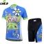 ชุดจักรยานเด็กแขนสั้นขาสั้น CheJi สีฟ้าลายการ์ตูน thumbnail 1