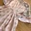 มินิเดรสผ้าชีฟองปักดอกไม้สีชมพูอ่อน thumbnail 7