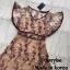 Dress แขนระบายคอV เนื้อผ้าซีทรูปักดอก thumbnail 4