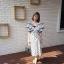 Dress แขนระบายคอV thumbnail 3