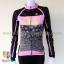 เสื้อจักรยานผู้หญิงแขนยาว ALE 16 (07) สีดำชมพูลายฟองน้ำ thumbnail 1