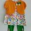 Gymboree ชุดเซ็ท 3 ชิ้น เสื้อแขนกุดลายผีเสื้อมาพร้อมเสื้อคลุมสีส้ม thumbnail 1