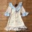 Dress ปลายแขนระบายคอV thumbnail 5