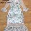 Maxi Dress แซ๊กซี่เดรสคอกลมแขนยาว thumbnail 11