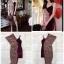 Dress เนื้อผ้ากำมะหยี้ ทรงเข้ารูปพอดีตัว ดีไซรเก๋ มีSteyl thumbnail 4