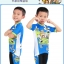 ชุดจักรยานเด็กแขนสั้นขาสั้น CheJi สีฟ้าลายการ์ตูน thumbnail 2