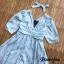 Dress แขนสั้นคอV เนื้อผ้าดีพิ้มลายทั้งตัว thumbnail 4