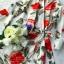 เดรสเนื้อผ้าเครปพิมพ์ลายดอกกุหลาบสีแดง thumbnail 7