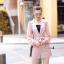จั้มสูทตัวชุดใช้ผ้าสูทมีลายทางลงสีขาว thumbnail 6