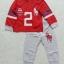 POLO : Set เสื้อแขนยาว+กางเกงขายาว สีแดง-เทา สกรีนม้าโปโล เลข 2 ตัวโต Size : 1y thumbnail 1