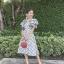 Dress แขนระบายคอV thumbnail 4