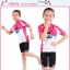 ชุดจักรยานเด็กแขนสั้นขาสั้น CheJi สีชมพูขาวลายกระต่าย thumbnail 5