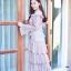 Dress แขนยาวคอบีน เนื้อผ้าลูกไม้ thumbnail 3
