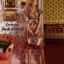 Dress แขนระบายคอV เนื้อผ้าซีทรูปักดอก thumbnail 2