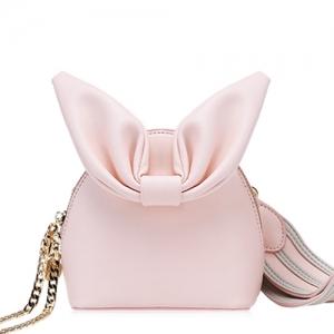 BG_3164 (pre-order) กระเป๋าสะพายข้างใบเล็ก ทรงหูกระต่าย สี Blush Pink, 2018, Shoulder Bag