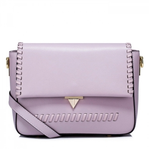 BG_3171 (pre-order) กระเป๋าหนังแท้ทำงานคุณภาพ แบรนด์ NCEL ดีไซน์หนังถักริมขอบ, 2018, Shoulder Bag, Purple-Blue