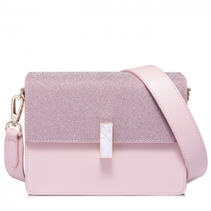 BG_3170 (pre-order) กระเป๋าวิ้งผงเมทาลิค แบรนด์ NCEL สีชมพู, 2018, Shoulder Bag, Pink