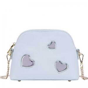 BG_3162 (pre-order) กระเป๋าสะพายข้างใบเล็ก Blue Heart แฟชั่นพาสเทล, 2018, Shoulder Bag, Blue