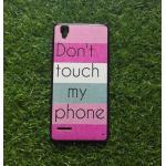 TPU ลายเส้นนูนDon'touch my phone Oppo F1(A35)